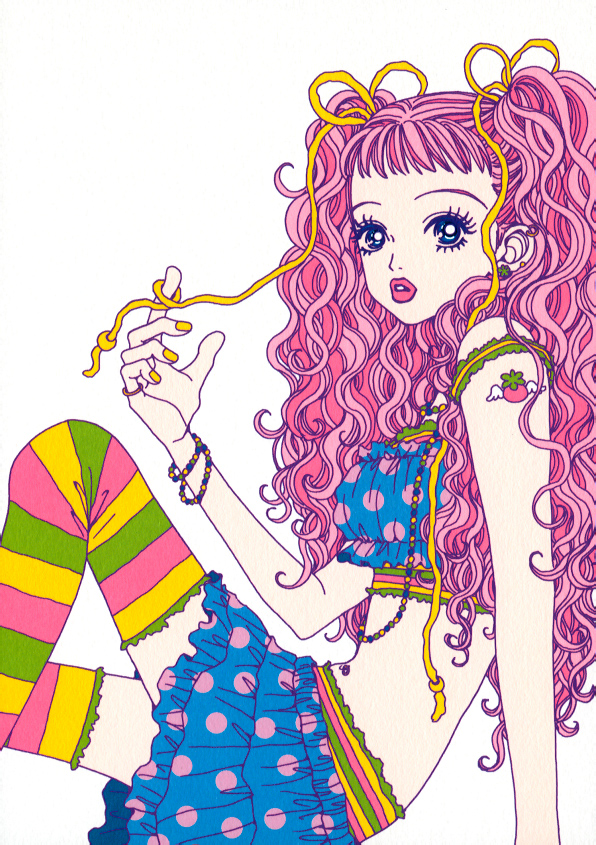 Here are some of my favorite crazy hairstyles: - Mama (Kodomo no Omocha)